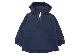 Mini A Ture Arik anorak softshell jakke blue nights