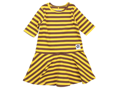 Mini Rodini Dance kjole stripe rib yellow