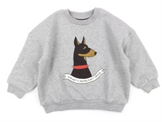 Mini Rodini sweatshirt Doberman grey melange