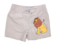Mini Rodini Lion badeshorts light grey
