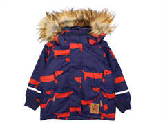 Mini Rodini Parka vinterjakke dog navy