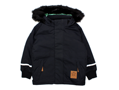 Mini Rodini Parka vinterjakke fox family black