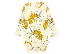 Mini Rodini Star body unicorn off white