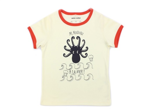 Mini Rodini t-shirt octopus rød