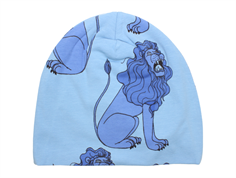 Mini Rodini beanie lion ligth blue