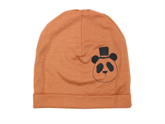 Mini Rodini beanie panda brown uld