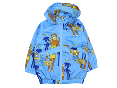 Mini Rodini overgangsjakke light blue cool monkey