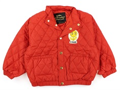Mini Rodini overgangsjakke Diamond quilted red