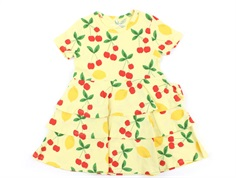 Mini Rodini kjole yellow cherry lemonade