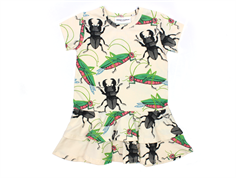 Mini Rodini kjole insects off white