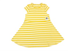 Mini Rodini kjole rib yellow stripe