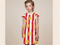 Mini Rodini kjole sun stripe red