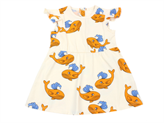 Mini Rodini kjole whale orange