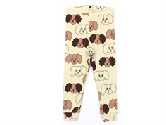 Mini Rodini leggings beige fluffy dog