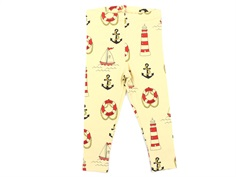 Mini Rodini leggings yellow lighthouse
