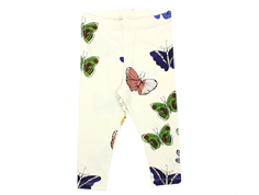 Mini Rodini leggings butterflies offwhite