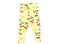 Mini Rodini leggings yellow cherry lemonade