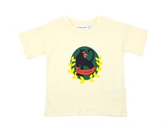 Mini Rodini t-shirt Panther badge panter offwhite