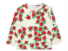 Mini Rodini rose t-shirt offwhite