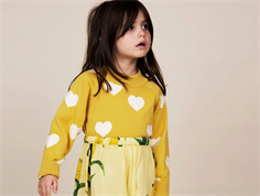 Mini Rodini strikbluse heart yellow