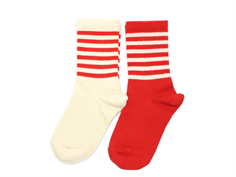 Mini Rodini strømper red (2-pack)