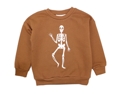 Mini Rodini sweatshirt brown skeleton