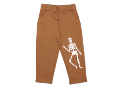 Mini Rodini sweatbukser brown skeleton