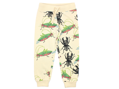 Mini Rodini sweatpants insects beige