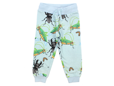 Mini Rodini sweatpants insects light blue