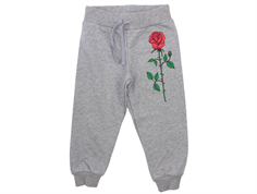 Mini Rodini sweatpants rose grey melange