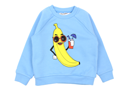 Mini Rodini sweatshirt banana light blue