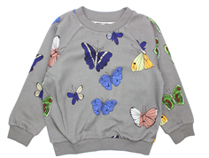 Mini Rodini sweatshirt butterflies dark grey