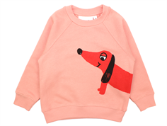 Mini Rodini sweatshirt dog pink