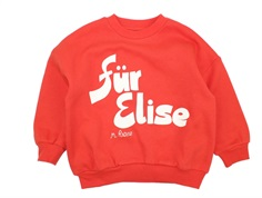 Mini Rodini sweatshirt red Für Elise