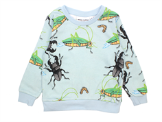 Mini Rodini sweatshirt insects light blue