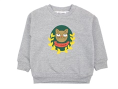 Mini Rodini sweatshirt grey melange badge