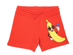Mini Rodini sweatshorts banana red