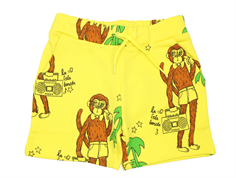 Mini Rodini sweatshorts cool monkey yellow