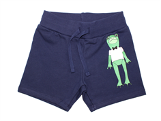 Mini Rodini sweatshorts frog navy