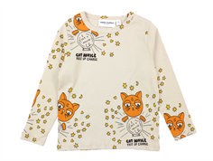 Mini Rodini t-shirt cat advice beige is