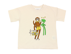 Mini Rodini t-shirt cool monkey offwhite
