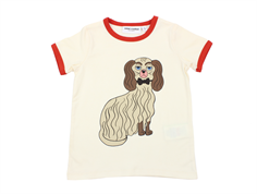 Mini Rodini t-shirt dashing dog offwhite