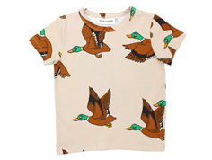 Mini Rodini t-shirt ducks grandpa beige