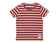 Mini Rodini t-shirt stripe rib pink