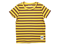 Mini Rodini t-shirt stripe rib yellow short