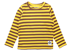 Mini Rodini t-shirt stripe rib yellow