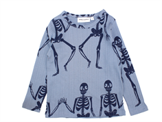 Mini Rodini t-shirt blue skeleton