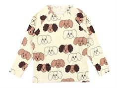Mini Rodini t-shirt beige fluffy dog
