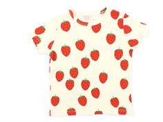 Mini Rodini t-shirt offwhite strawberry