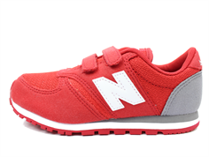 New Balance sneaker red/grey/white med velcro
